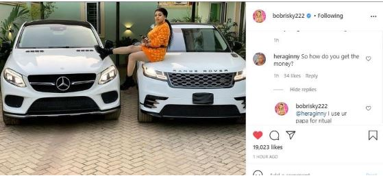 Bobrisky Mistakenly Reveals the Source of his Income