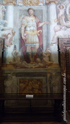 Afresco renascentista que representa o Imperador Adriano