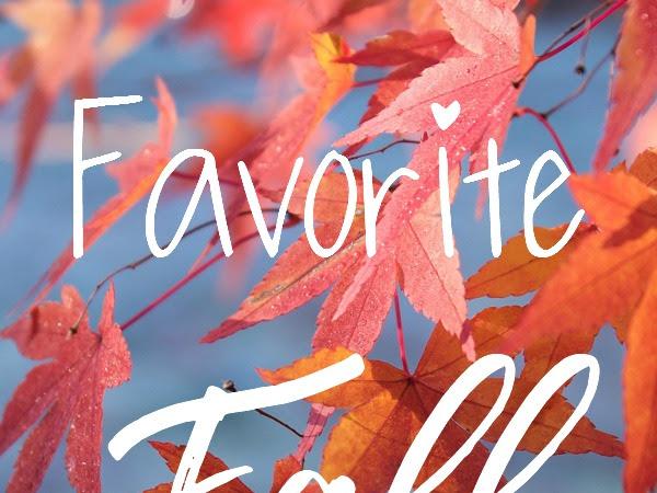 Favorite Fall Essentials
