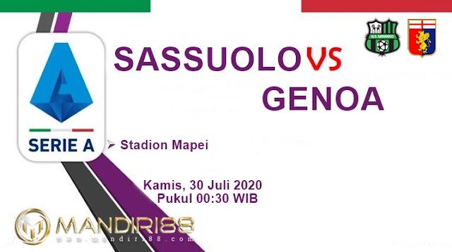 Prediksi Sassuolo Vs Genoa, Kamis 30 Juli 2020 Pukul 00.30 WIB