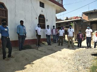 ग्राम रक्षा दल ने मार्च निकाल कोरोना वायरस के प्रति लोगो को किया जागरूक।