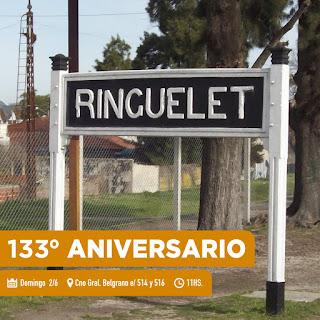 Con música en vivo y propuestas para toda la familia, Ringuelet celebrará su 133° aniversario