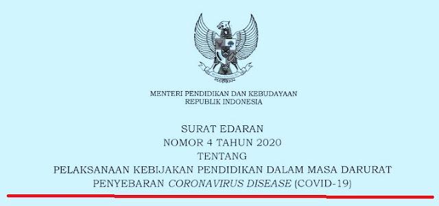 Edaran Mendikbud Nomor 4 Tahun 2020