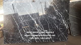 marmer nero marquina slab
