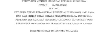 Jadwal Pencairan THR dan Gaji 13 Tahun 2021