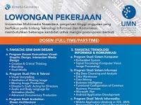 Masih dibuka Penerimaan Dosen Universitas Multimedia Nusantara