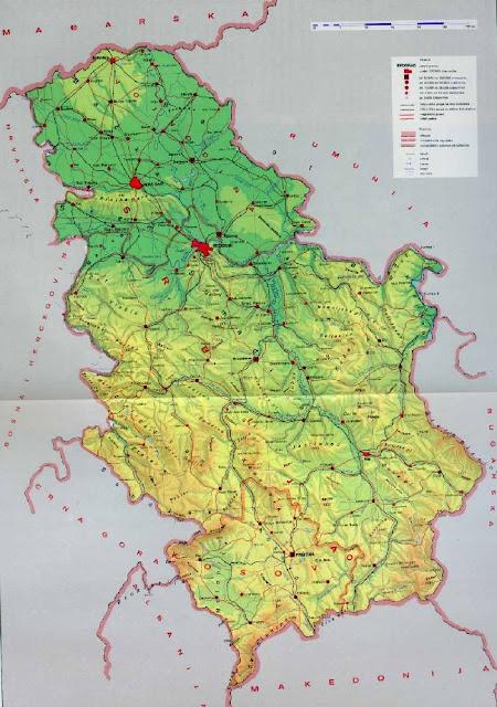 Mapas Geográficos da Sérvia