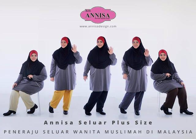 ANNISA SELUAR WANITA PLUS SIZE 4XL-7XL