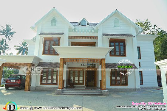 Kerala style Finished home elevation view 2
