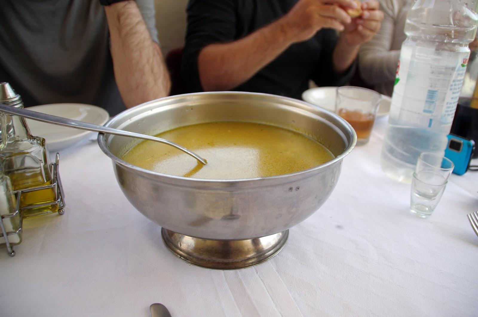 Croatian soup lunch
