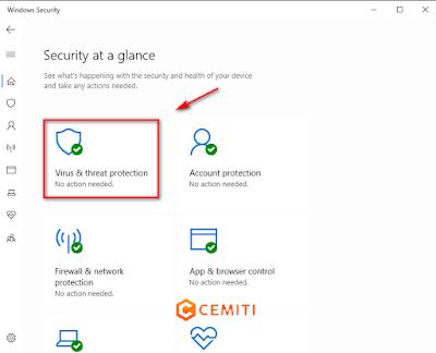 Mematikan Antivirus di Windows 10