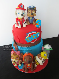 paw patrol fondant cake