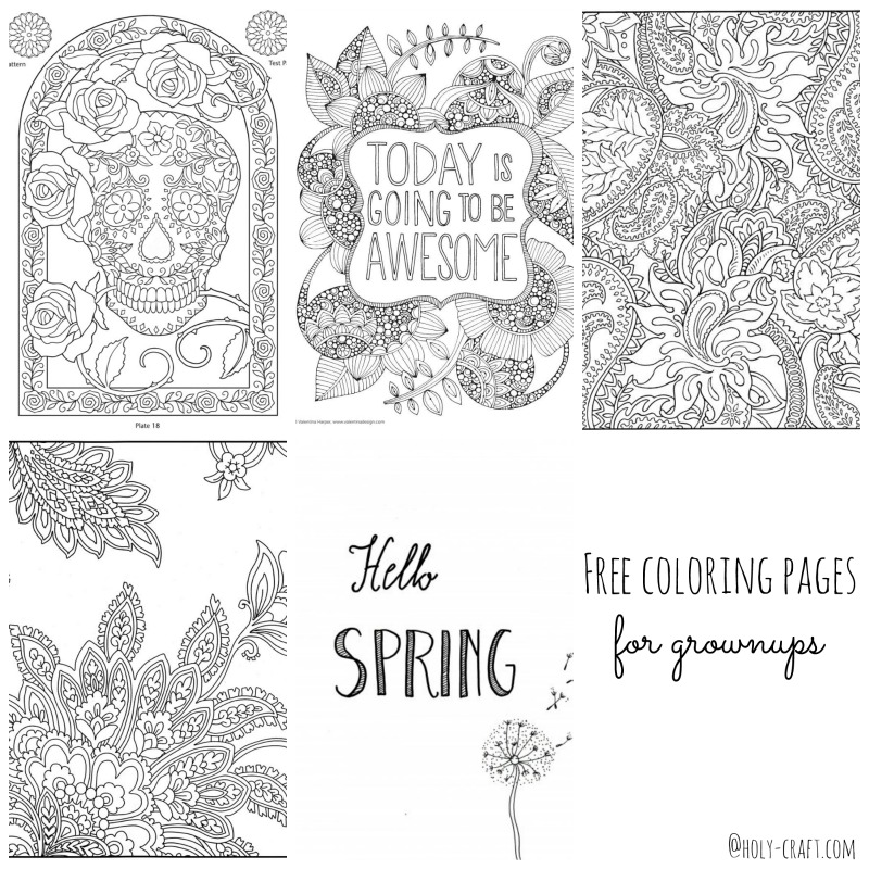 Free coloring pages round up for grown ups! - Rachel Teodoro