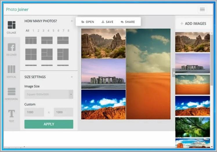 Photo Joiner :   Online εφαρμογή  σχεδίασης κολάζ και templates