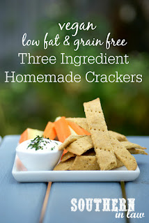 Easy Three Ingredient Gluten Free Crackers Recipe Vegan