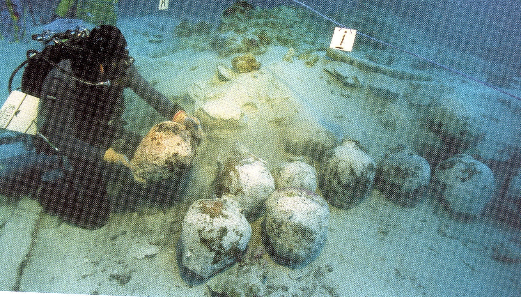 Storage jars from the Lena Shoal shipwreck
