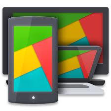 Aplikasi menampilkan layar Android