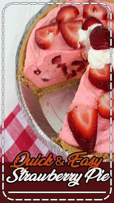 Since warm weather has arrived you may be needing this Quick & Easy Strawberry Pie Recipe. We are constantly looking for quick and easy desserts to throw together for grill outs. Spring and summer always