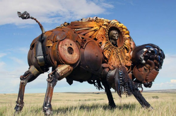 Amazing Sculptures Created Out of Scrap metal