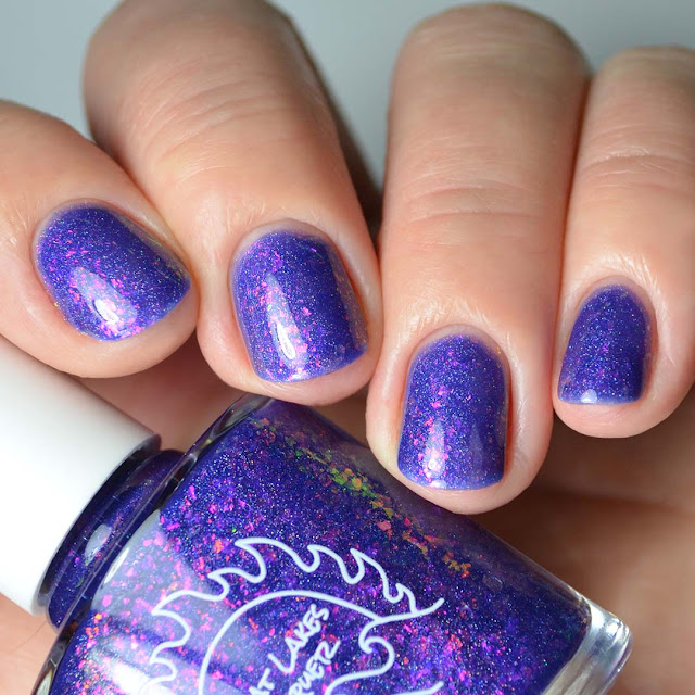 purple flakie four finger swatch