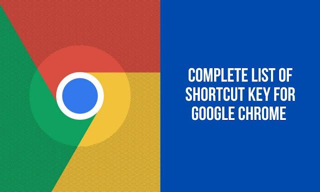 Google Chrome Keyboard Shortcut Key