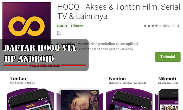 Daftar HOOQ Melalui Hp Android