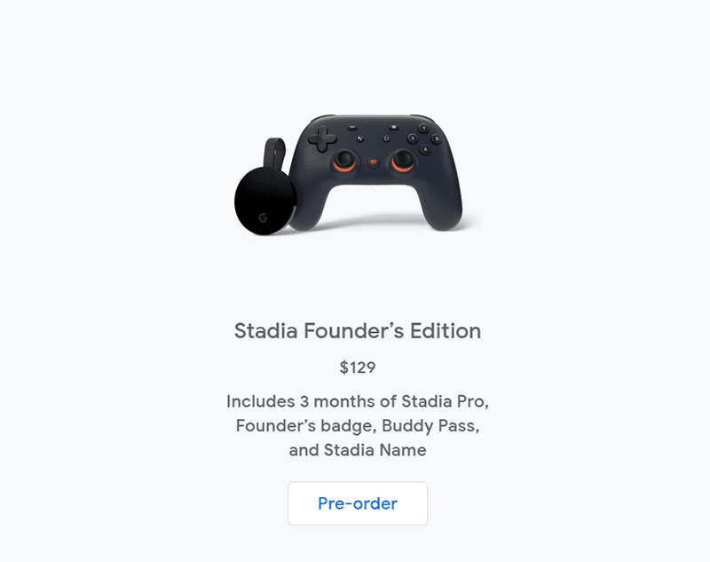 Google Stadia Founder's Edition
