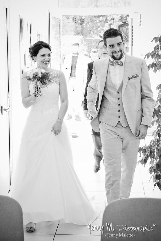photo entrée des mariés dans la mairie