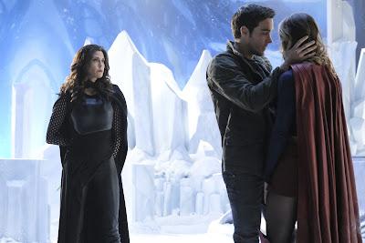 Supergirl 2x17 Distant Sun Rhea Kara Zor-El Mon-El Karamel promo pic