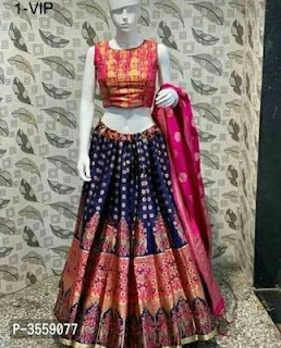 Elegant Art Silk Lehenga Choli With Blouse Piece