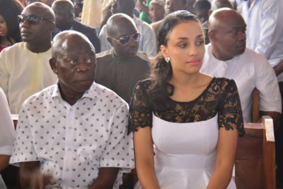 Unconfirmed reports claim that the beautiful wife Of Edo state governor, Iara Fortes Oshimhole,