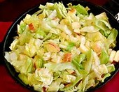 QUICK AND EASY CABBAGE-APPLE SAUTE