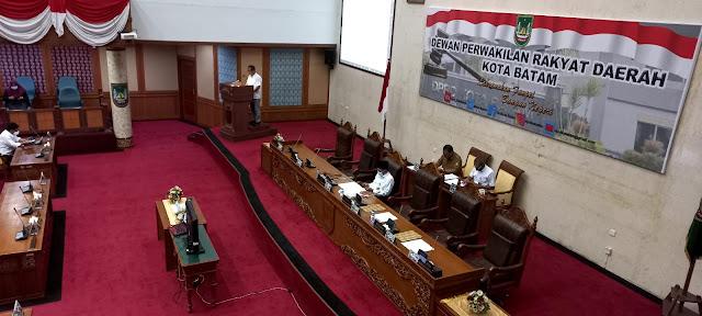 Walikota Batam Jelaskan Atas Ranperda RPJMD Kota Batam Tahun 2021-2026