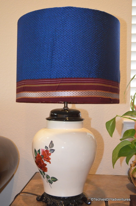Indian Fabric Covered lampsahde