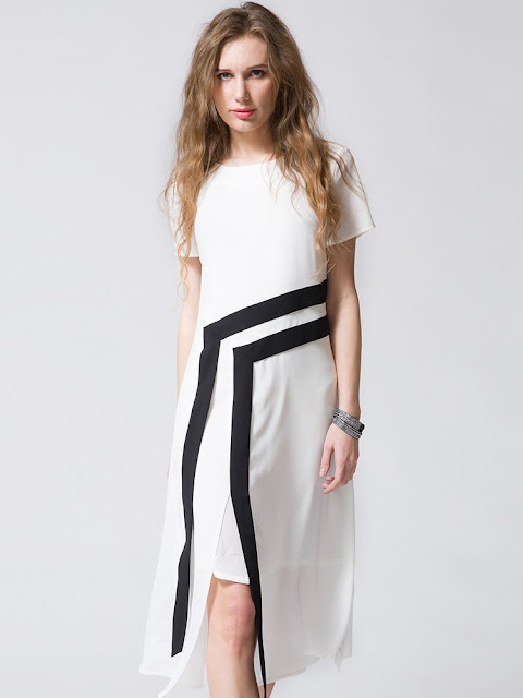 """10 Minimalist and Versatile Black and White Dresses for Summer"" 