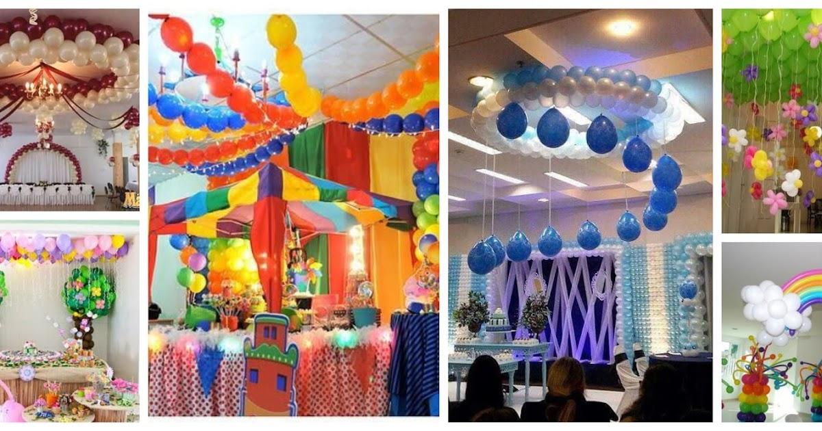 13 ideas para decorar los techos de una fiesta con globos for Ideas para techos