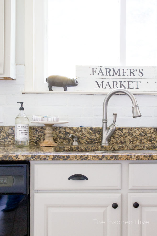 Fixer upper style modern farmhouse kitchen makeover