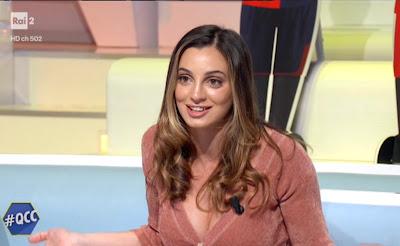 Rossella Fiamingo seno decolleté quelli che il calcio 6 gennaio