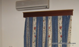 older air conditioning unit in our bedroom