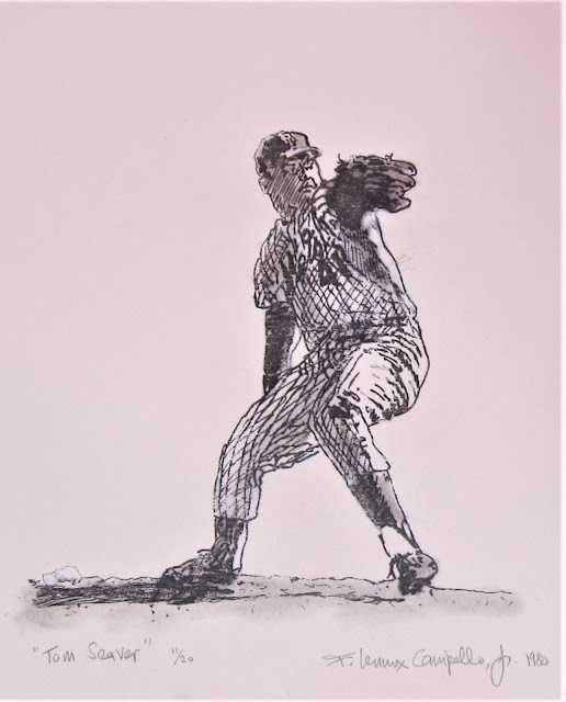 Tom Seaver - Limited Edition etching circa 1980 by F. Lennox Campello