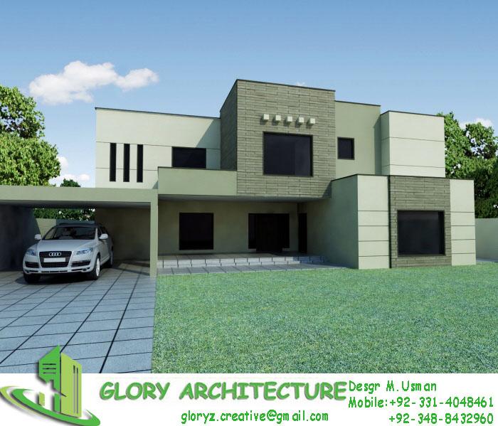 Glory Architecture 25x50 House Elevation Islamabad: 50X90 House Elevation, 50x90 Islamabad House Elevation