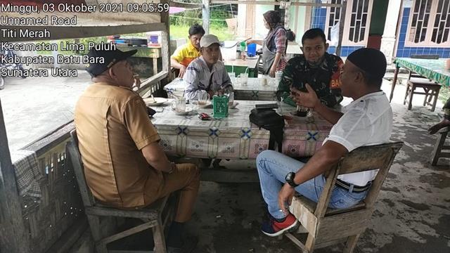 Komunikasi Sosial Dengan Perangkat Desa Dilakukan Personel jajaran Kodim 0208/Asahan Diwilayah Binaan