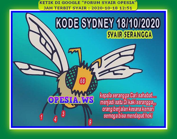 Kode syair Sydney Minggu 18 Oktober 2020 25
