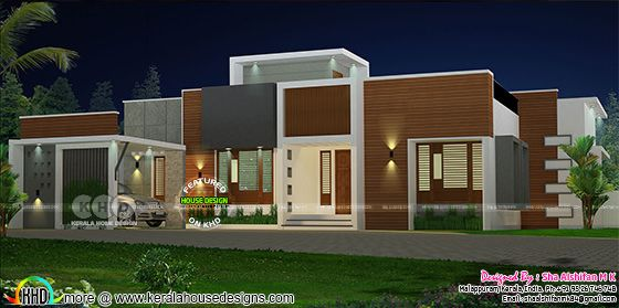 1901 square feet 3 bedroom single floor home plan