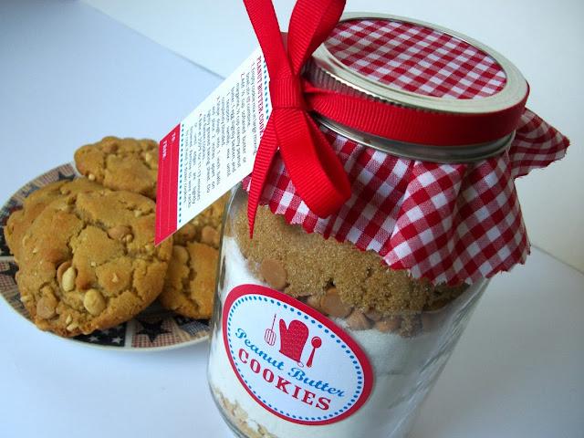 peanut butter cookie mix in a jar recipe