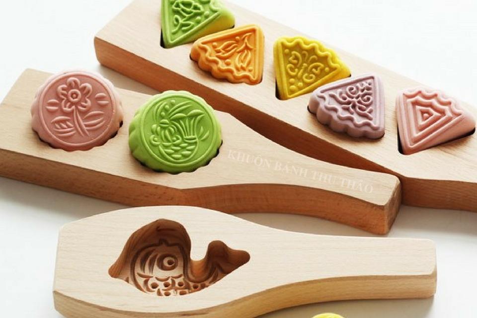 Khuôn bánh trung thu bằng gỗ