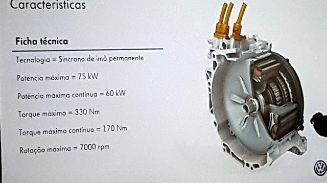 Motor elétrico do Golf GTE - 102 cv