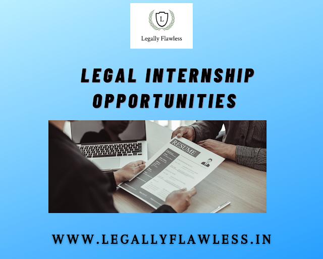Online Internship Opportunity with Advocate Niranjan Deshpande