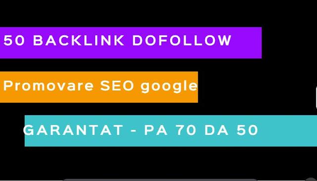 Obtine 50 de backlink-uri pentru website-ul tau pe domeniu cu autoritate mare DA 50 PA 50 | Promoware SEO google.