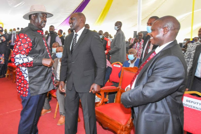 Raila and Ruto in Kisii